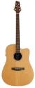 Stagg NA60CBB Elektro-Akustische Dreadnought Gitarre mit massiver Zederndecke