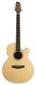 Stagg NA30MJCBB Elektro-Akustische mini Jumbo Gitarre mit massiver Fichtendecke