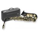 Stagg 77-SA/BK Alt Saxophon in SCHWARZ mit Hoch Fis-Klappe im ABS-Koffer