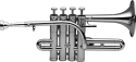 Stagg B/A Piccolo Trompete in silber im Koffer