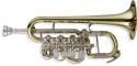 Stagg 77-TPR Hoch B/A Piccolo Trompete im Softcase