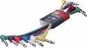 Stagg PC-0,3/PLPLH 6 x 1/4, Manneliche Mono patchkabels - klinke/ L formig klinke