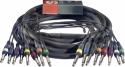 Stagg ML-05/8PM8PMH Pro multikern kabel - 8 x 1/4, Monoklinke/ 8 x 1/4, Monoklinke