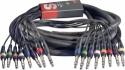 Stagg ML-05/8PMS8PMSH Pro multikern kabel - 8 x 1/4, Stereoklinke/ 8 x 1/4, Stereoklinke