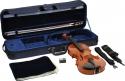 Geigenset Ideale 4/4 SET2 vollmassive Violingarnitur mit angeflammten Boden