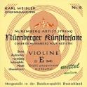 N�rnberger K�nstler Saitensatz 4/4 Geige/Violine Chromstahl umsponnen Seilkern mittel