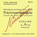 Nürnberger Künstler G-Saite 1/4 Geige/Violine Chromstahl umsponnen mittel