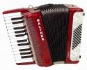 Akkordeon Walther Teeny 48 Bass 2 chörig rot
