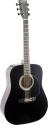Stagg SW203BK Akustische Dreadnought Gitarre