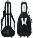 Jaeger 4/4 Basssack Basstasche 30mm mit Laufrollen und Rucksackgurten schwarz/anthrazit