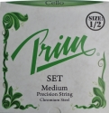 Prim Steel Strings Saitensatz mit Kugel medium für 1/2 Cello