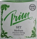 Prim Steel Strings Saitensatz, mit Kugel, medium, für 1/4 Cello