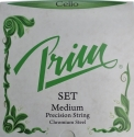 Prim Steel Strings Saitensatz, mit Kugel, medium, f�r 4/4 Cello