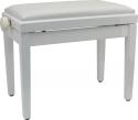 Klavierbank SPB45M WH P weiß poliert weißem Soft-Velours Bezug