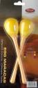 Stagg EGG-MA L/YW Maracas Paar Kunststoff eiförmig mit langem Griff gelb