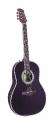 Tenson 4/4 Elektro-Akustik Roundbackgitarre Deep Bowl in schwarz Fichtendecke ABVERKAUF