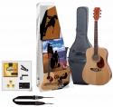 Tenson 4/4 Westerngitarre Starter-Set mit naturfarbiger Mini Dreadnought inkl. Zubehör