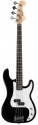 Tenson 4/4 E-Bass California P Standard in schwarz