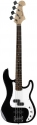 Tenson 4/4 E-Bass California PJ Standard in schwarz