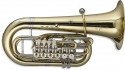 Stagg 77-TU RF F Tuba 6 Drehventile im Koffer auf Rollen