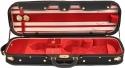 Steinbach 4/4 Geigenkoffer de Luxe Rechteckmodell in Rot Zierborde