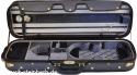 Steinbach 4/4 Geigenkoffer de Luxe Rechteckmodell in blaugrau/OL Zierborde