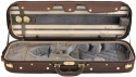 Steinbach 4/4 Geigenkoffer de Luxe Rechteckmodell in blaugrau/BR Zierborde