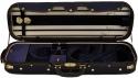 Steinbach 4/4 Geigenkoffer de Luxe Rechteckmodell in dunkelblau Zierborde Stepp