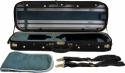 Steinbach 4/4 Geigenkoffer de Luxe Rechteckmodell in grün Zierborde