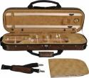 Steinbach 4/4 Geigenkoffer abgerundetes Modell beige-camouflage mit Schultergurt