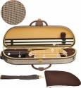 Steinbach 4/4 Geigenkoffer elegante Form im Pepitadesign mit Zierborde