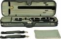 Steinbach 4/4 Geigenkoffer Rechteckmodell hellgrün mit Rucksackriemen