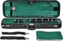 Steinbach 4/4 Geigenkoffer Rechteckmodell petrolgrün mit Zierborde und Rucksackriemen