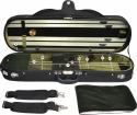 Steinbach 4/4 Geigenkoffer mit abgerundetes Modell dunkelgrün schwarz und  Rucksackriemen