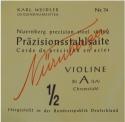 Nürnberger Präzision A-Saite 1/2 Geige/Violine Chromstahl umsponnen mittel