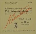 Nürnberger Präzision D-Saite 1/4 Geige/Violine Chromstahl umsponnen mittel