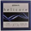 D`Addario Helicore Saitensatz 4/4 Geige/Violine/E-Geige E-Saite Carbonstahl verzinnt dick