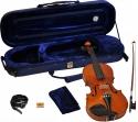 Steinbach 4/4 Geige im SET Ebenholzgarnitur angeflammter Boden Orangebraun poliert