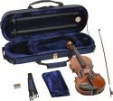 Steinbach 1/8 Geige im SET Ebenholzgarnitur poliert angeflammter Boden