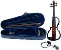 GEWA E-Violine Line II in der Farbe braun im Set inklusive Kopfhörer und Schulterstütze