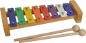 Steinbach Glockenspiel 8 bunte Klangplatten diatonisch Tonumfang von c''- c'''