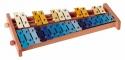 Basix Glockenspiel G27 27 bunte Klangplatten chromatisch