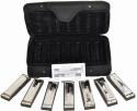 Hohner Mundharmonika Blues Harp SET mit 7 Tonarten inkl. Koffer