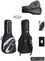 3/4 Jaeger Gitarrentasche in schwarz-anthrazit für Konzertgitarre 20mm Peak