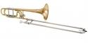 Jupiter JP-636RLO-F Tenorposaune mit Quartventil in Bb-/F- Stimmung, Goldmessing Schallstück, 13.89mm Bohrung, Open-Wrap Bauweise