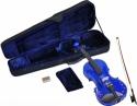 Steinbach 1/16 Geige im SET blau mit Blumendekor handgearbeitet