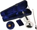 Steinbach 1/2 Geige im SET weiß mit Blumendekor handgearbeitet