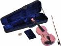 Steinbach 4/4 Geige im SET pink mit Blumendekor handgearbeitet