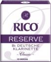 Rico Reserve Reeds 2,5 Deutsch Bb- Klarinette Packung mit 10 Stück