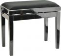 Burghardt Klavierbank Europa Schwarz poliert schwarzer Stoffbezug - Made in Europe